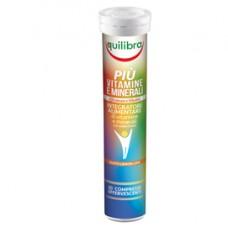 Integratore PiU' Vitamine  Minerali - gusto lemon lime - 20 compresse (86 gr cad.) - Equilibra