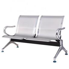 Panca attesa - 2 posti - in acciaio - grigio - Serena Group