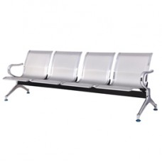 Panca attesa - 4 posti - in acciaio - grigio - Serena Group