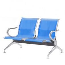 Panca attesa - 2 posti - in acciaio - blu - Serena Group