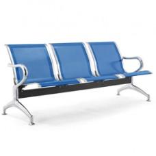 Panca attesa - 3 posti - in acciaio - blu - Serena Group