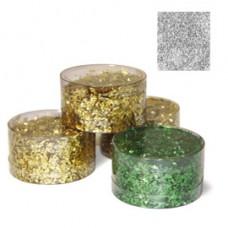 Barattolo Glitter - grana grossa - 150ml -  argento - DECO