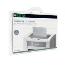 Fogli lubrificati per distruggidocumenti Leitz IQ - Leitz - scatola 12 pezzi