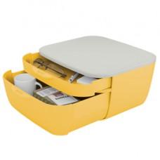 Cassettiera Cosy - 2 scomparti - giallo - Leitz