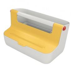 Cassetta portaoggetti con maniglia Cosy - giallo - Leitz