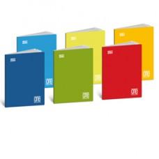 Maxiquaderno One Color Impatto Zero - A4 - punto metallico - 1 rigo - 20 +1 fg - 80 gr - Blasetti - expo 12 pezzi + 6 scatoline foglietti