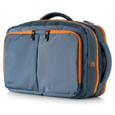 Borsa zainabile bi-bag Blackout - 44 x 28 x 18 cm - blu/arancio - InTempo