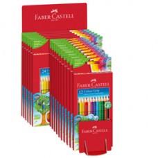 Astuccio matite colorate Color Grip - colori assortiti - Faber-Castell - expo 16 pezzi