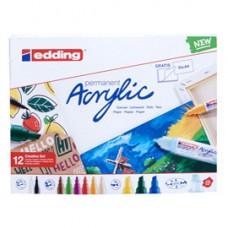 Marcatore acrilico Creative Set - colori assortiti - Edding - conf. 12 pezzi