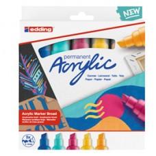 Marcatore acrilico Broad Abstract - colori assortiti - Edding - conf. 5 pezzi