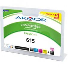 Armor - Cartuccia per Epson - C/M/Y/2K - T0611 x 2 T0612 T0613 T0614 - Conf. 5 cartucce