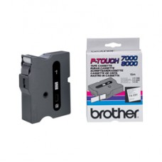 Brother - Nastro -  Nero/Bianco - TX251 - 24mm x7,7mt