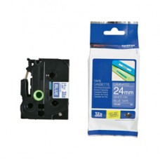 Brother - Nastro -  Bianco/Blu - TZE555 - 24mm x 8mt