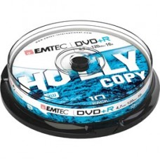 Emtec - DVD+R - registrabile, 4,7GB, 16x spindle - conf. 10 pz
