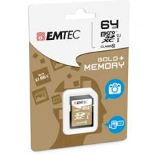 Emtec - SDXC Class 10 Gold + - ECMSD64GXC10GP - 64GB