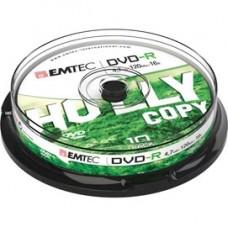 Emtec - DVD-R - registrabile - ECOVR471016CB - 4,7GB - conf. 10 pz
