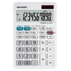 Calcolatrice da tavolo EL 330W - 10 cifre - Bianco - Sharp