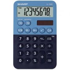 Calcolatrice tascabile EL 760R - 8 cifre - azzurro/blu - Sharp - EL760RBBL