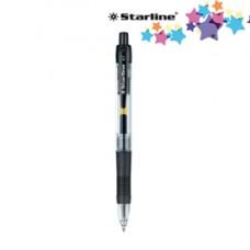 Penna a sfera a scatto con inchiostro gel  - punta fine 0,7mm - nero - Starline