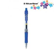 Penna a sfera a scatto con inchiostro gel - blu - punta fine 0,7mm - Starline