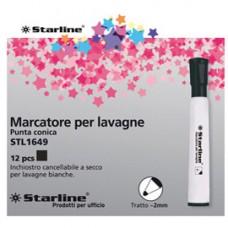 Marcatore per lavagne cancellabili Starline - punta tonda 2,0mm - nero - Starline