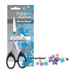 Forbici - 21 cm - lama in acciaio - impugnatura ABS - nero - Starline