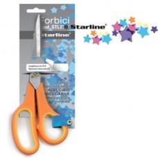 Forbici - 17,8 cm - lama in acciaio - impugnatura morbida - arancione - Starline