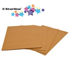 Cartelline semplici - 225 gr- 24,5x34cm - avana - Starline - conf. 50 pezzi