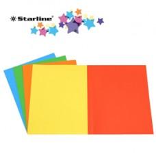 Cartellina semplice - 200 gr - 25 x 34 cm - 5 colori assortiti - Starline - conf. 50 pezzi