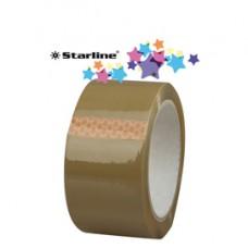 Nastro adesivo - PPL - 50 mm x 66 mt - color avana - Starline