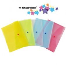 Busta con bottone - PPL - 22x30 cm - colori assortiti - Starline