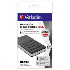 Verbatim - Memoria SSD portatile Store 'N'Go Usb 3.1 - con tastierino numerico - 53402 - 256GB
